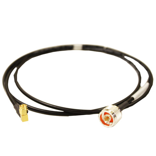 Product image of Talley A19KPR-5 N-Male to Rt Angle SMA Male Rev Plzd LMR195 Assy, 5ft.