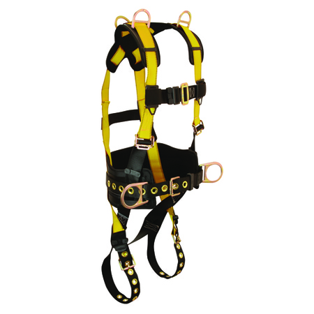 7034S FallTech - J-Man Harness Tongue Buckle Straps 5 D-Rings, Small