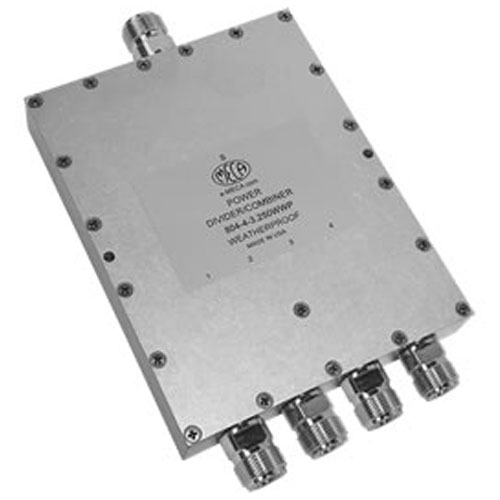 Product image of MECA 804-4-3.250WWP .5-6 GHz 4-Way Pwr Divider Combiner N-Female Weatherproof