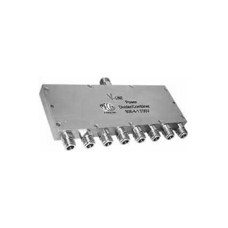 Product image of MECA 808-4-1.700V .698-2.7 GHz 8-Way Pwr Divider Combiner, N-Female Ports