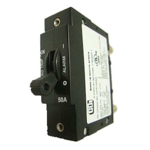 Product image of Alpha Technologies 470-304-10 15Amp AM Breaker, Plug-In Type w/ Aux Switch Center Pin Only
