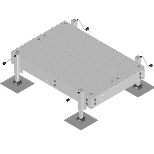 Product image of MTS Wireless EQ-P0410-AL 4' x 10' Land Based Equipment Platform w/4 Adjustable Legs