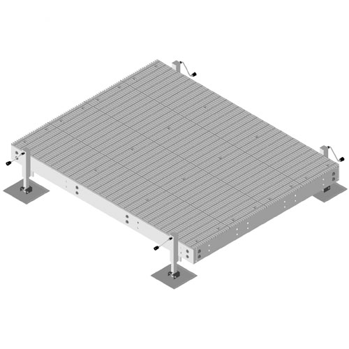 Product image of MTS Wireless EQ-P0810-AL 8' x 10' Land Based Equipment Platform w/4 Adjustable Legs