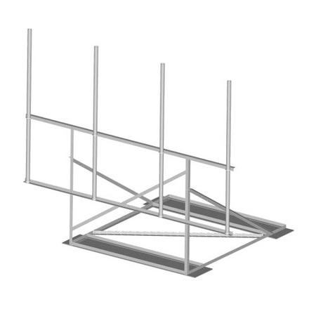 Product image of MTS Wireless RF-N14-B 14.5 Ft Wide 1-Sector Non- Penetrating Roof Frame w/Mats
