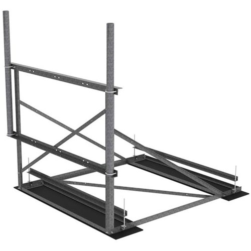 Product image of MTS Wireless RF-NL7-2-72 7.5 Ft Wide 1-Sector Hvy Duty Non-Penetrating Roof Frame Kit
