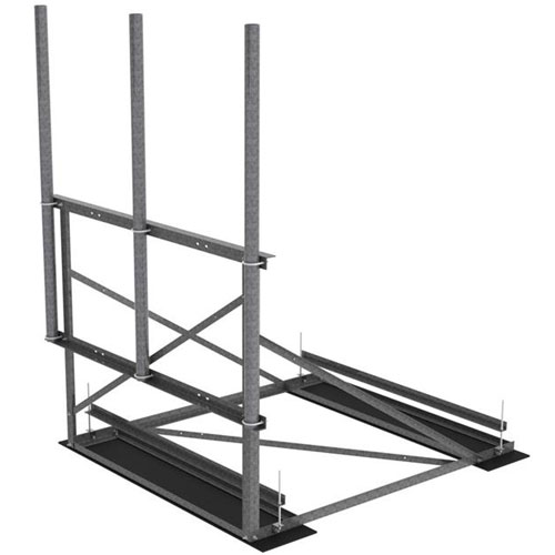 Product image of MTS Wireless RF-NL7-3-96 7.5 Ft Wide 1-Sector Hvy Duty Non-Penetrating Roof Frame Kit