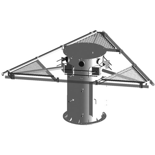 Product image of MTS Wireless WT-SPM14-B 14.5' Face 3-Sector Platform Stackable Water Tower Pod Mnt