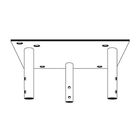Product image of Rohn APL25G Beacon Plate Top Section for 25G Tower Sections