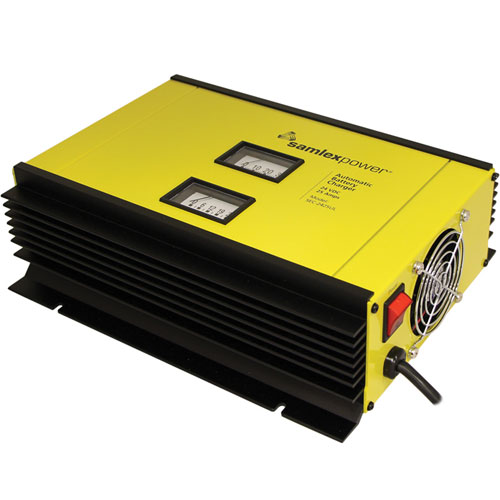 Product image of Samlex SEC-2425UL 25 Amp 24V 2/3 Stage Battery Charger, Volt & Amp Meter