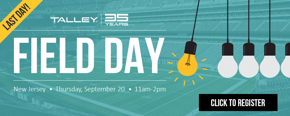 Join us in New Jersey for our Talley Field Day!