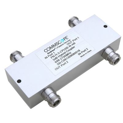 Product image of CommScope H-3-CPUSE-N-AI6 698-2700MHz 200W Low PIM Air Diel Hybrid Coupler, N-Fem