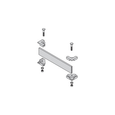 Product image of B-Line by Eaton SB210512YZ Runway Termination Kit, 1-1/2