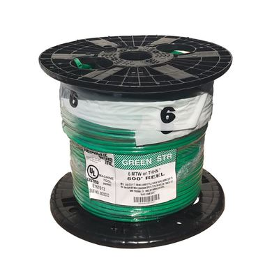 MT-586-G Republic Wire - #6 AWG THHN Green Jacket Stranded Ground ...