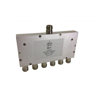 Product image of MECA 806-4-1.500V .8-2.2 GHz 6-Way Pwr Divider Combiner, N-Female Ports