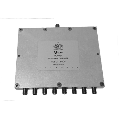 Product image of MECA 808-2-1.500V .8-2.2 GHz 8-Way Pwr Divider Combiner, SMA Female Ports