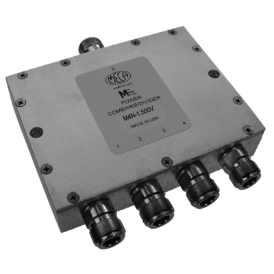 Product image of MECA M4N-1.500W .800-2.20 GHz 50W 4-Way Power Divider/Combiner N-Female