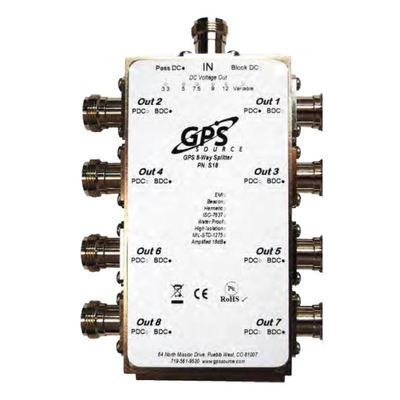 Product image of Gruber S18GT-A00-NF GPS/GNSS 1 x 8 Splitter 1 In/8 Out, dc Biased N-F