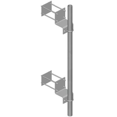 "4 Aluminum Hand Railing Wall Mounts for 1-5//8/"" OD Pipe"