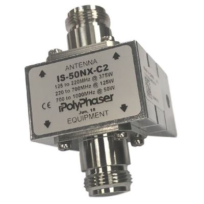 Product image of PolyPhaser IS-50NX-C2 125-1000 MHz Flange Mount Coax Protector w/N Females