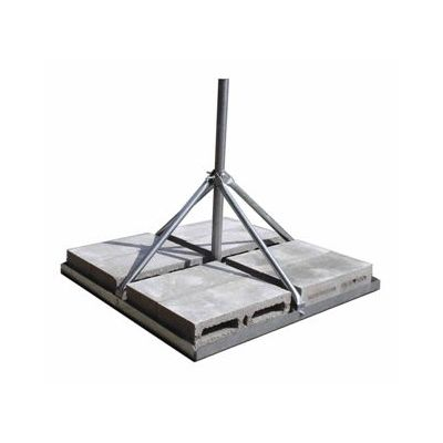 Frm125 Outdoor Mast Flat Roof Non Penetrating Mount