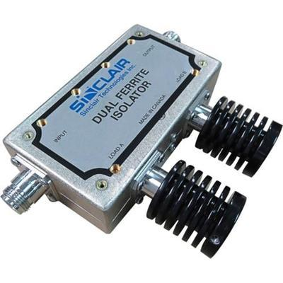 Product image of Sinclair I2213A 132-174 MHz Ferrite Isolator, Dual Stage, 125W, 5MHz, NF