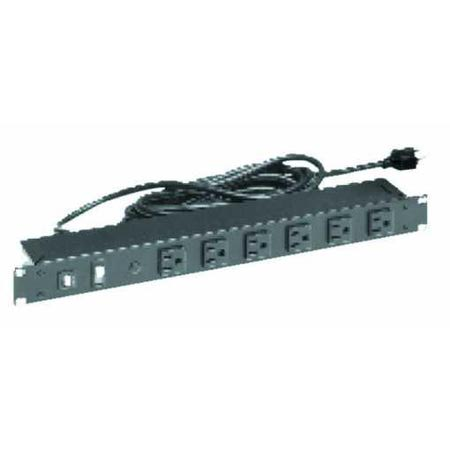 Product image of Bud Industries POS-195-S 15 Amp 8-Outlet Front Access 19