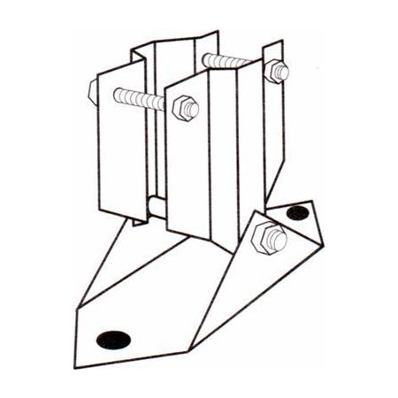 Product image of Rohn ETMB Universal Roof Mount for Telescoping(Push-Up) Masts