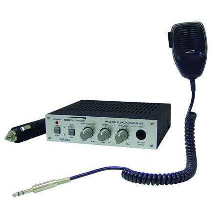 Product image of Speco PAT20TB 20 Watt 12V DC Mobile PA Amp w/Microphone & 2-Way Talkback
