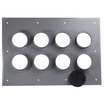 CommScope 252138 I-Line 8-Port (2x4) Wall Entry Panel with 4