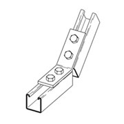 B335-2-3/8-ZN B-Line by Eaton - 3-Hole Unistrut Adjustable