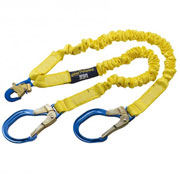 DBI Sala 1244409 Shockwave2 100% Tie Off Lanyard, Double-Leg with Snap Hooks and Aluminum Rebar Hooks on Leg End, 6'