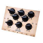 PolyPhaser 8PEEP-M 8-Port Modular Earthed Wall Entry Panel Protection System