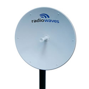 RadioWaves SPD3-2.4NS 2.4-2.7 GHz 3 Ft Dual Plzd Parabolic Dish Antenna