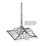 Rohn JRM27510 Non-Penetrating Roof Mount 10' x 2-7/8