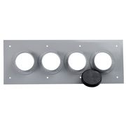 CommScope 204673-4 4-Port (1x4) Wall/Roof Entry Panel with 4