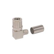 Times Microwave EZ-240-QM-RA-X Connector, Right Angle QMA-Male Crimp for LMR240 with Captivated Pin
