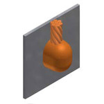 ThermOweld M-1638-S Mold, #2 Solid Overhead Vert Wire End to Vert Steel Surface
